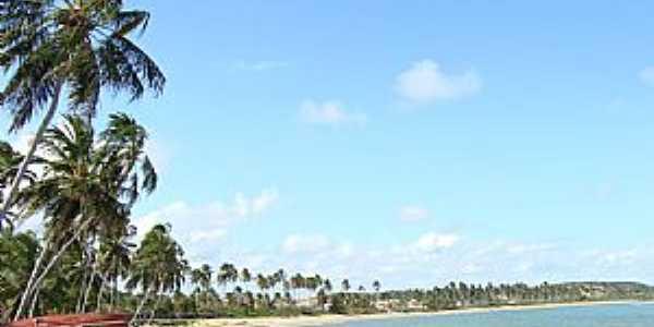 Paripueira-AL-Vista da praia-Foto:Henrique de BORBA