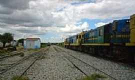 Ibiapaba - Pátio da Estação Ferroviária em Ibiapaba-CE-Foto:Mardonio César