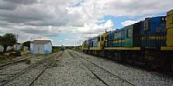 Pátio da Estação Ferroviária em Ibiapaba-CE-Foto:Mardonio César