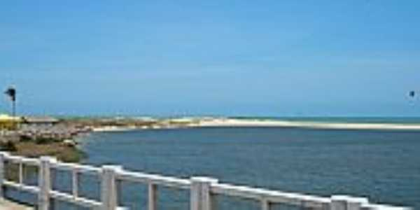 Icaraí-CE-Barra do Rio Barra Nova na Praia do Icaraí-Foto:Ivo Dias
