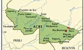 Porto Acre - Mapa