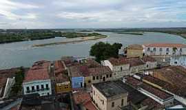 Penedo - Penedo-AL-Rio São Francisco e parte da cidade-Foto:Charles Northrup
