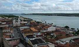 Penedo - Penedo-AL-Vista do centro e o Rio São Francisco-Foto:Charles Northrup