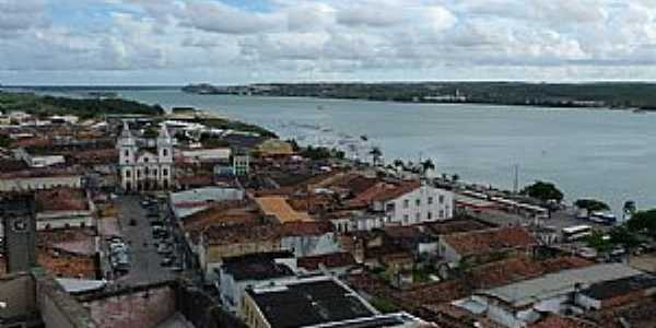 Penedo-AL-Vista do centro e o Rio S�o Francisco-Foto:Charles Northrup