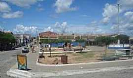 Jaguaretama - Jaguaretama-CE-Praça central e Mercado Público-Foto:jose moreira silva Moreira