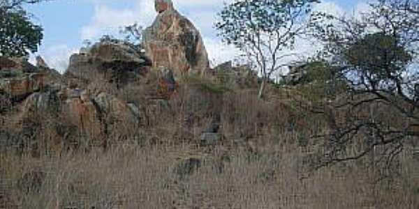 Jandrangoeira-CE-Formação rochosa que lembra a imagem de Nossa Senhora-Foto:cearaemfotos.blogspot.com.br