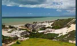 Lagoa do Mato - Lagoa do Mato-CE-Falésias e dunas beira mar-Foto:nimra mhad