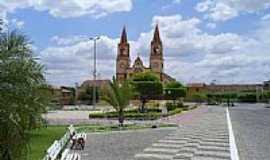 Lavras da Mangabeira - Praça e Igreja Matriz-Foto:professor_pepe