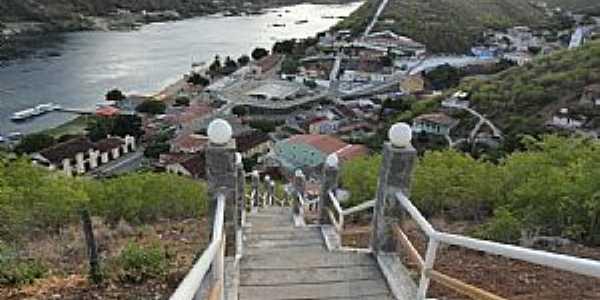 Piranhas-AL-A cidade vista da escadaria da Pedra do Sino-Foto:Walter Leite