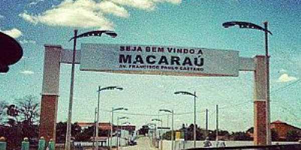 Macaraú-CE-Pórtico de entrada da cidade-Foto:macaraunoticias.com.br