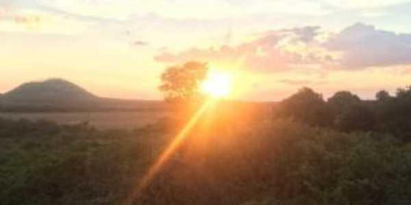 Por do Sol visto da pedra grande., Por Emiiano