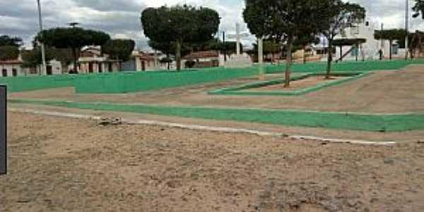 Major Simplício-CE-Praça no Distrito-Foto:radialistadeneslima