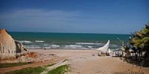 Chegando na praia de Majorlândia-CE-Foto:nimra mhad