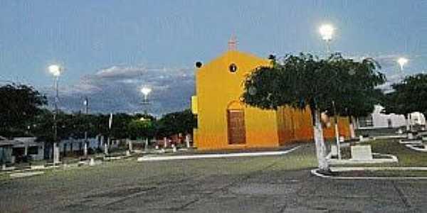 Malhada Grande-CE-Praça e Capela de São João Batista-Foto:Facebook