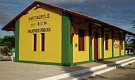 Martinópole - Antiga Estação de Trem, hoje Biblioteca Pública-Foto:THIAGO13SS