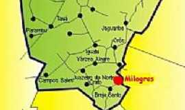 Milagres - Mapa