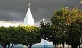 Miragem - Miragem-CE-Vista da Torre da Igreja e centro-Foto:Facebook