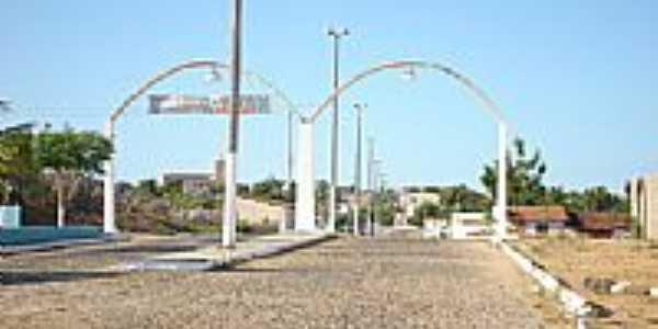 Pórtico de entrada de Miraíma-Foto:Angelo Lustosa