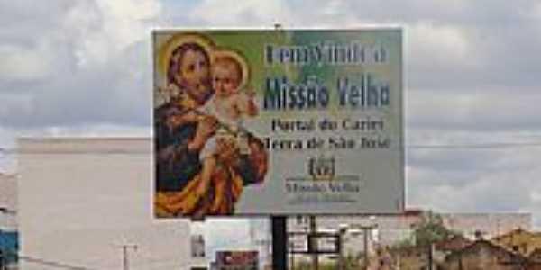 Entrada da cidade de Miss�o Velha-CE-Foto:Erivan Oliveira