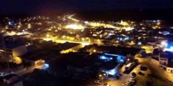 Vista parcial noturna a partir de foto aérea próximo ao Alto do Clube, Por Erivan Júnior