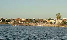 Morada Nova - Morada Nova-CE-Açude e Pier na orla-Foto:Walter F Leite
