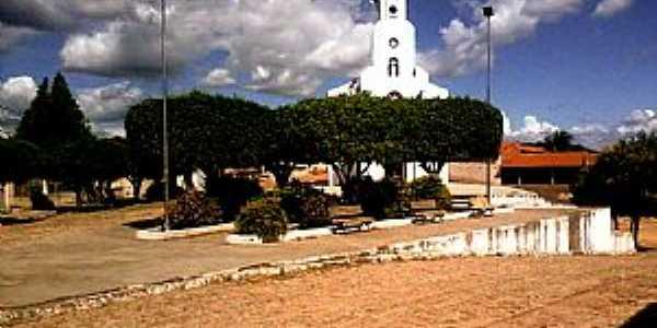 Nova Betânia-CE-Praça e Igreja de N.Sra.das Graças-Foto:080637