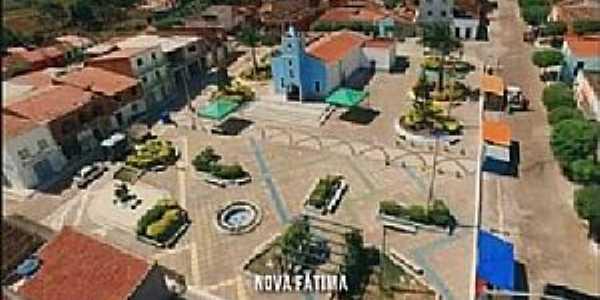 Nova Fátima-CE-Vista aérea do centro-Foto:Facebook