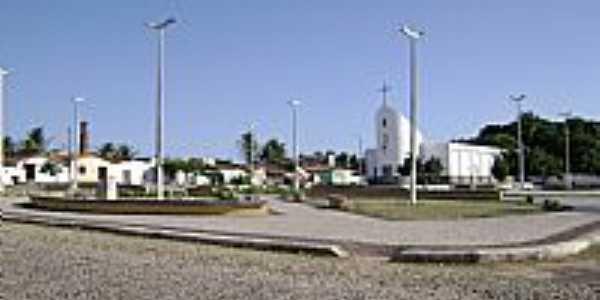 Paraipaba-CE-Praça do Monte Alegre-Acervo Instituto Pró Memória-Foto:heraldomedeiros