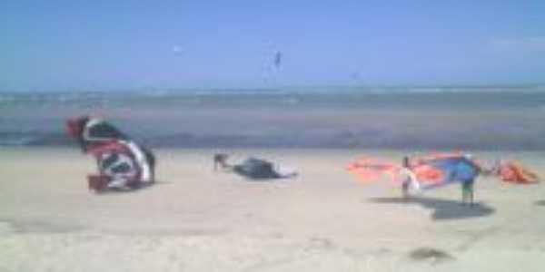 kitesurf com maré baixa, piscinas naturais., Por Tarciano monteiro