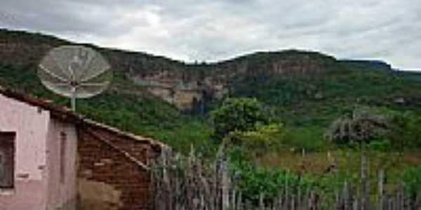 Bela vista da entrada da Bica do Donato em Pires Ferreira-CE-Foto:RICARDO SABADIA