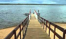 Poço Grande - Poço Grande-CE-Plataforma de pesca no açude-Foto:RamonMoralll