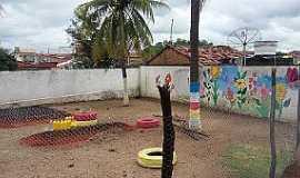Ponta da Serra - Ponta da Serra-CE-Horta Comunitária no Posto de Saúde-Foto:blogdapontadaserra.