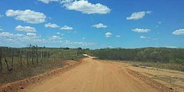 Quincoé-CE-Estrada de terra-Foto:Lindomar Rodrigues