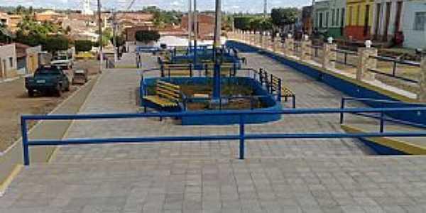 Quincuncá-CE-Praça central-Foto:Alexandre Penha