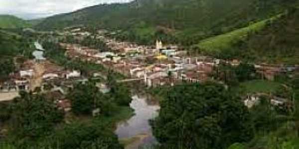 Santana do Mundaú-AL-Rio Mundaú e a cidade-Foto:psemundau.blogspot.com