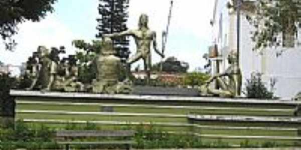 Praça dos Índios em São Benedito-Foto:Alessandro Frota