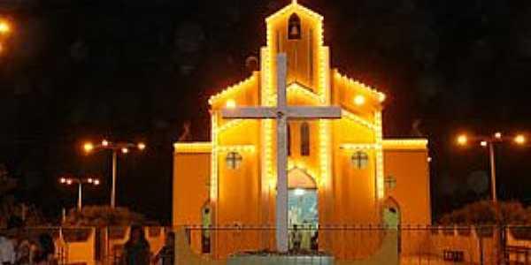 São Domingos-CE-Igreja de São Domingos-Foto:freiosmardasilva.blogspot