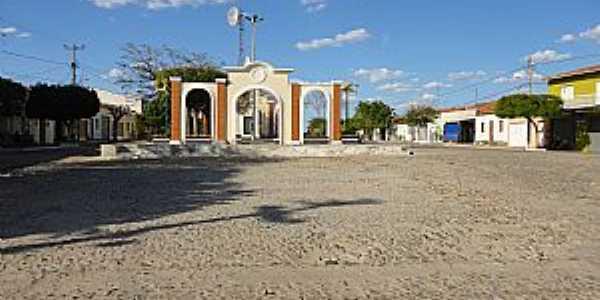 São José-CE-Centro do distrito-Foto:solonopole.blogspot.