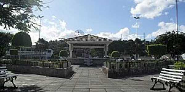 São Luis do Quitundé-AL-Praça Ernesto Maranhão-Foto:Sergio Falcetti