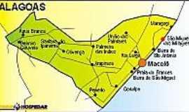 São Miguel dos Milagres - Mapa
