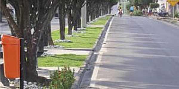 São Sebastião-AL-Avenida central-Foto:www.saosebastiao.al.gov.br