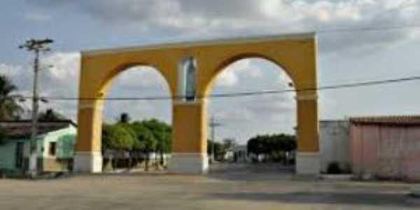 Arco Nossa Senhora de Fátima, principal avenida de Tamboril-Ce, Por allaf