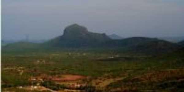 Vista panoramica da cidade, foto retirada da pedra mirante do parque ecologico, Por Fabio Farias Gomes