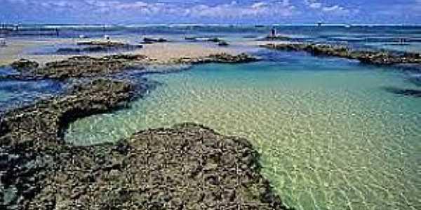 Trairi-CE-Piscinas naturais na praia das Fleixeiras-Foto:www.pbase.com