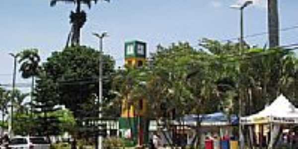 Praça da Coluna da Hora em Ubajara-Foto:Ivo Dias