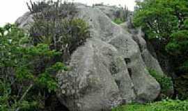 Uruburetama - Uruburetama-CE-Interessante pedra na Serra-Foto:Prof.Castro