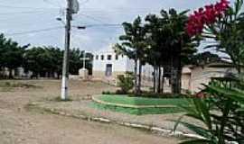 Várzea do Gilo - Capela e praça central de Várzea do Gilo-CE-Foto:Ivo Dias