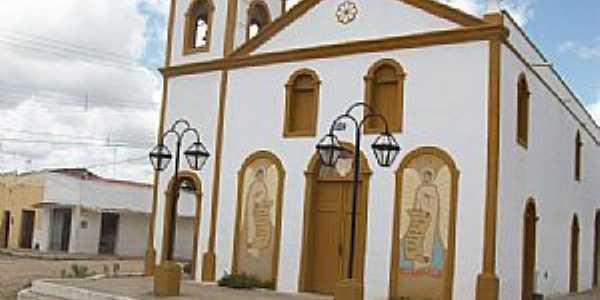 Vazantes-CE-Igreja Matriz depois da reforma-Foto:JOÃO ARTUR