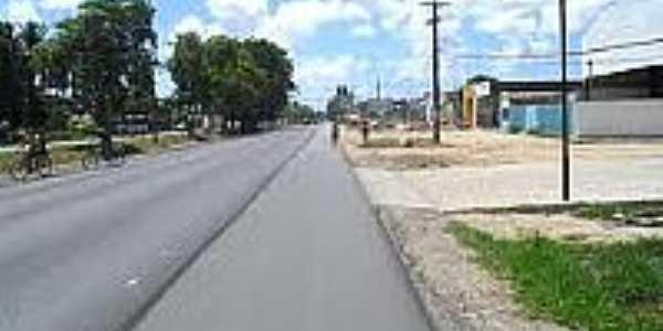Avenida em Taboleiro do Pinto-AL-Foto:tribunauniao