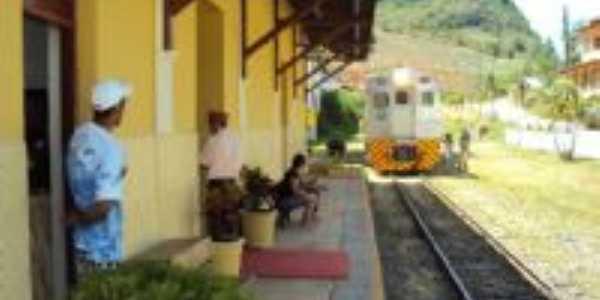 Trem de passageiro na estação, Por Mauro Zambon Filho